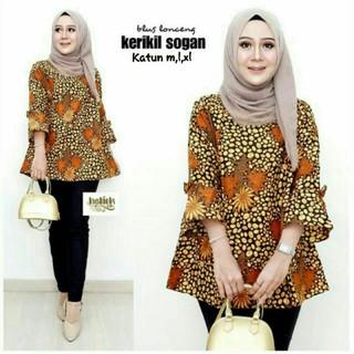 Model Baju Batik Atasan Anak Muda Shopee Indonesia