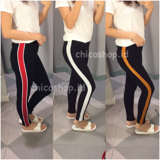 H M Legging Strip 190 Shopee Indonesia