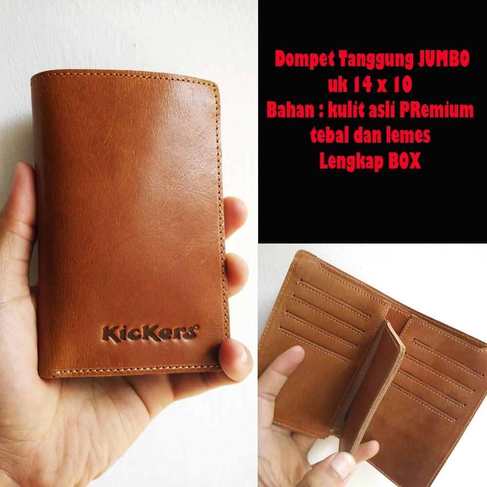 Dompet kulit asli pria sapi murah kartu lipat casual polos simple simpel standar premium garut   656c841855