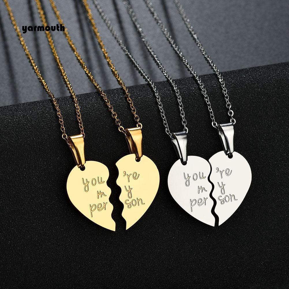 2Pcs Kalung Pasangan Romantis Tulisan You Are My Person Untuk Hadiah Pasangan