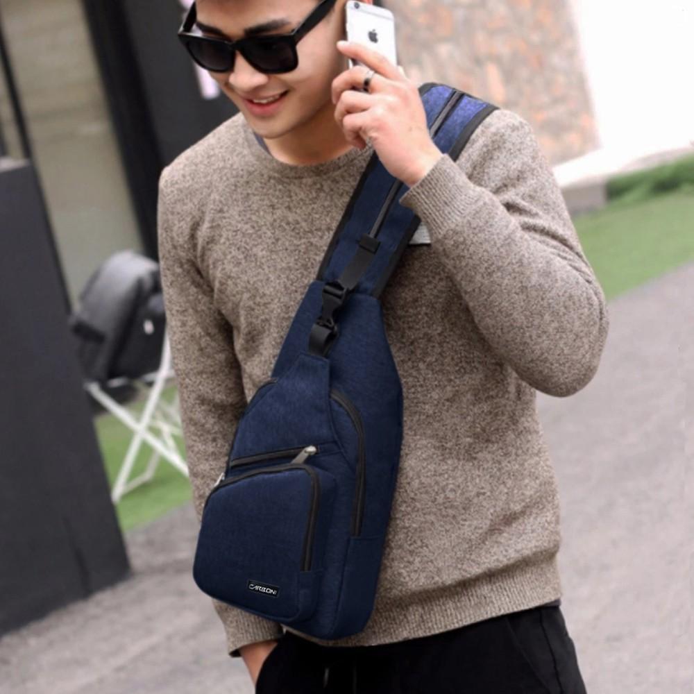 Belanja Online Tas Pinggang Pria Shopee Indonesia Waist Bag Supreme Premium Img3135