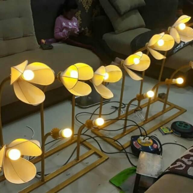 Standing Lamp Dekorasi Taman Pelaminan Isi 7 Shopee Indonesia