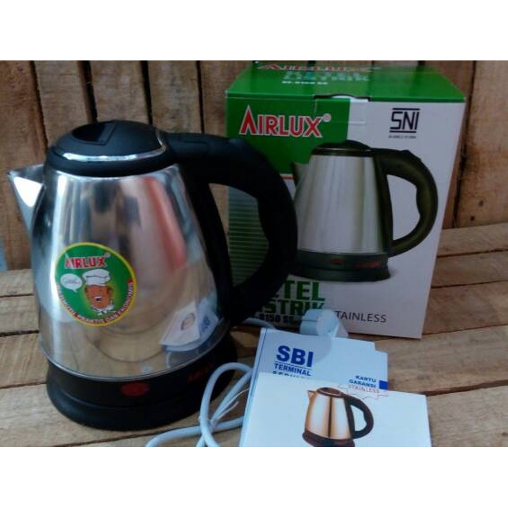 Airlux Electric Kettle Teko Listrik 15 Liter Daya 350watt Stainless Arashi 18liter Steel Ke 8150ss Shopee Indonesia