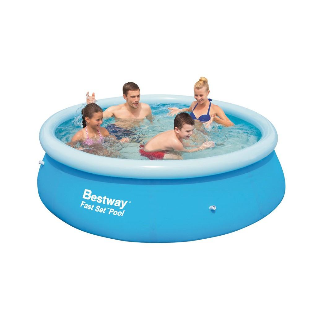 Kolam Renang Anak Fast Set Pool Bestway 244cm 57008 Intex Swim Center See Through Round 57489 Blue