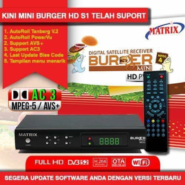 HOT!!! - MATRIX MINI BURGER HD S1