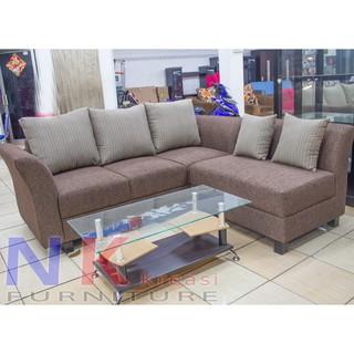 Sofa Kursi Ruang Tamu L Minimalis Sofa Sudut Mewah Meja Tamu