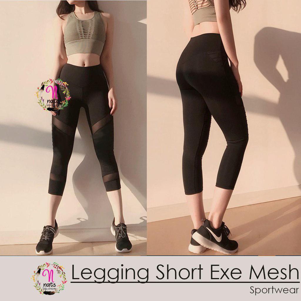 Legging SHORT EXE MESH celana senam celana gym legging