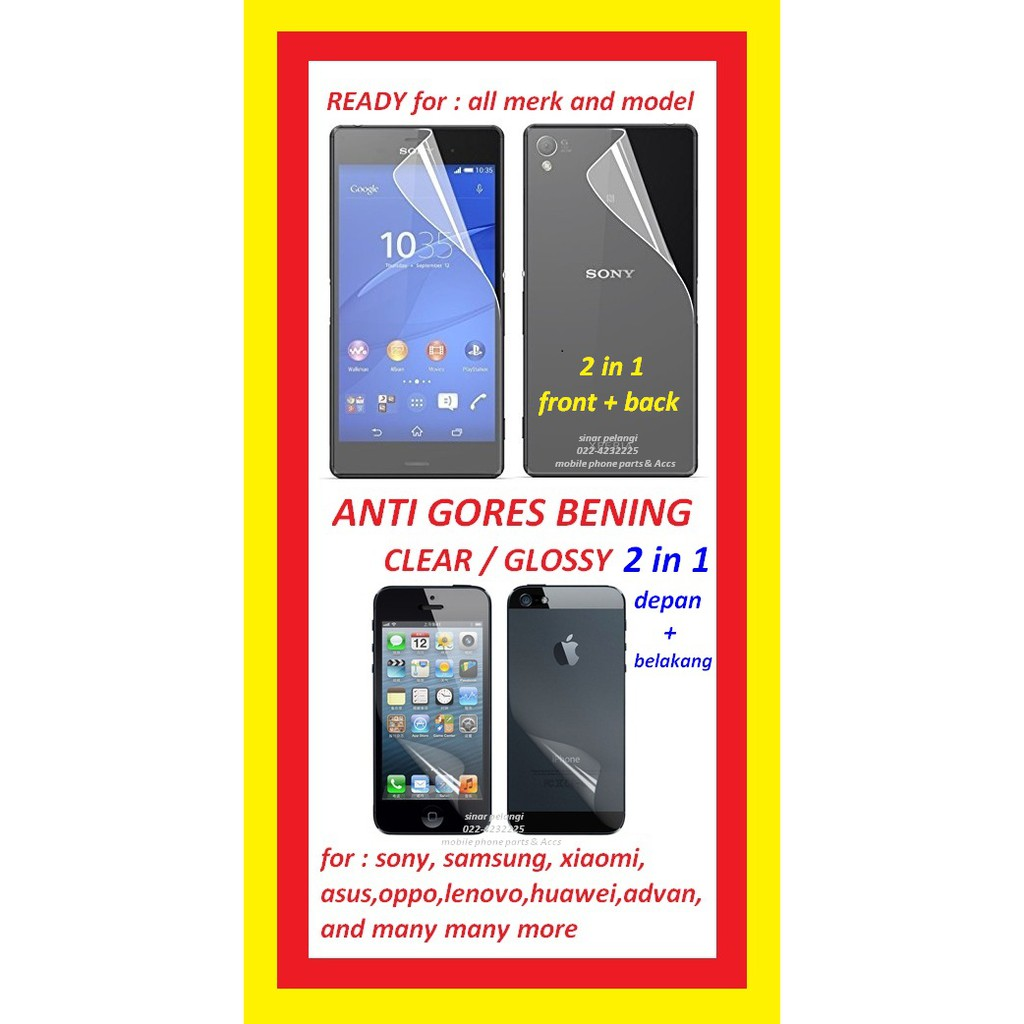 Indoscreen Mask Premium Fc Anti Gores Asus Zenfone 2 Laser 55 Inch Go Zc500tg Clear Bening 3 Ze520kl 52 Z017d Front And Back 907306