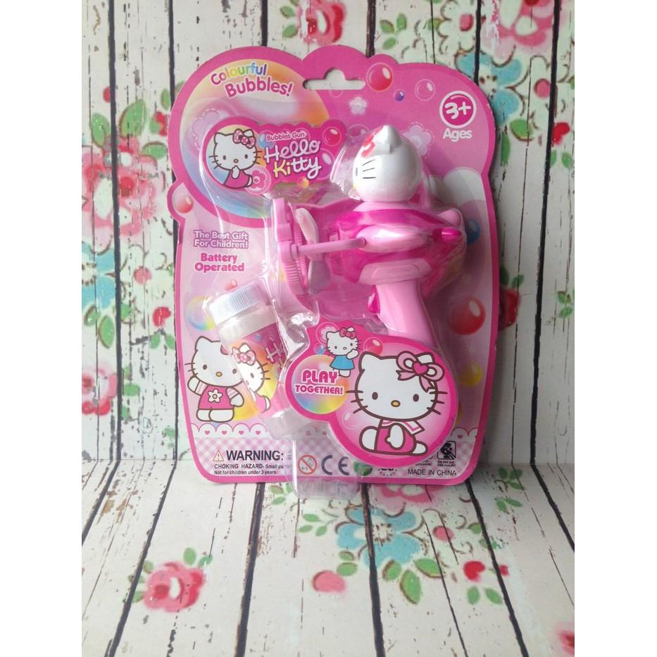 Bubble Fan Shopee Indonesia Mainan Gelembung Busa Gun Hello Kitty