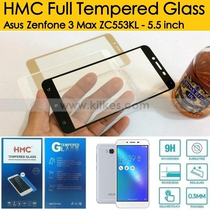 HMC Full Tempered Glass Asus Zenfone 3 ZE520KL - 5.2 inch   Shopee Indonesia