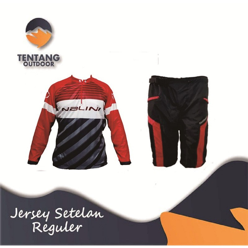 Jersey Sepeda Gowes NALINI Roadbike XC Panjang Setelan