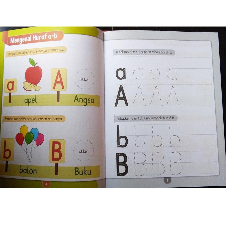 Paket Spesial Buku Anak TK PAUD BALITA SMART KIDS MENULIS HURUF DAN ANGKA 4 5 TAHUN
