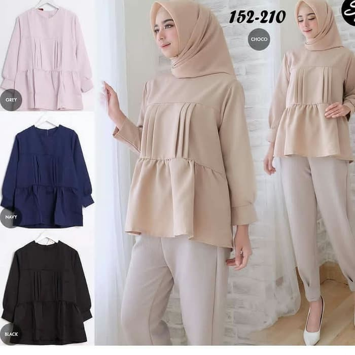 Promo Pakaian Baju Wanita Atasan Blouse Cantik Trendy Caca Baju Kerja Wanita Muslim Casual Modern Te Shopee Indonesia