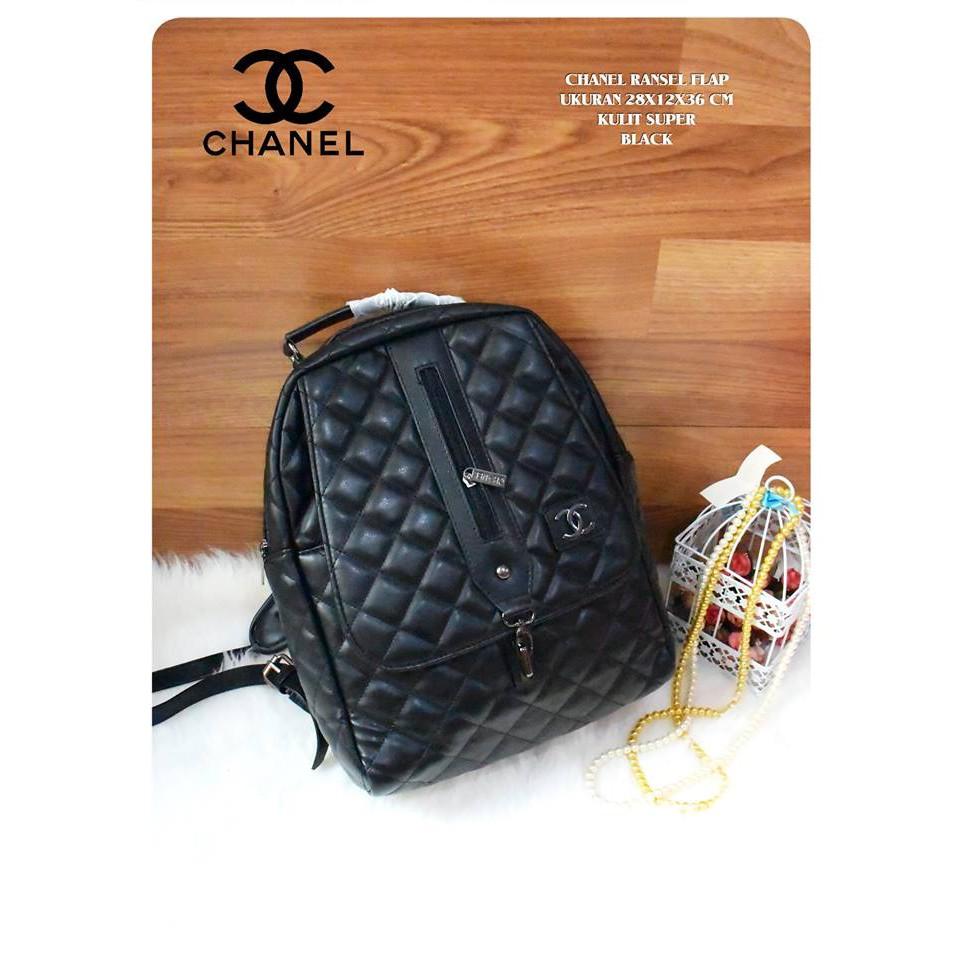 Tas Chanel Ransel Murah Wanita Fashion Shopee Indonesia Dompet Pria Inficlo Inf545