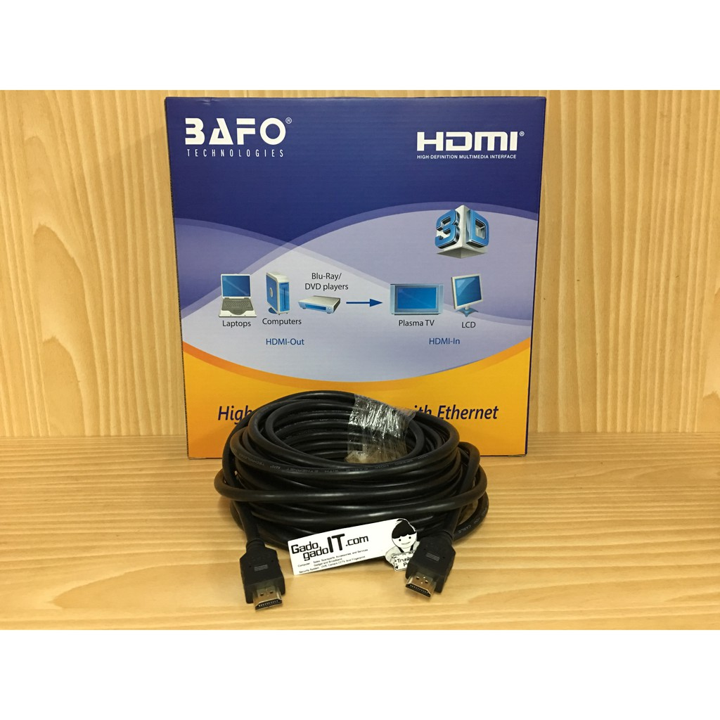 Bafo High Speed Cable Kabel Hdmi To 10meter Support Full Hd 10m Flat Versi 14 3d 1080p 10 M Male Shopee Indonesia