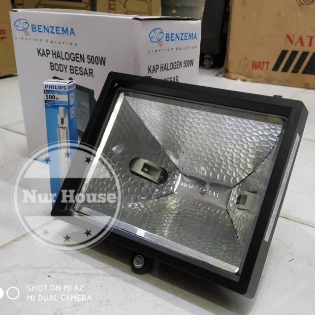 Lampu Sorot Halogen 500 Watt 300 Watt Halolite Philips Benzema Lampu Taman Shopee Indonesia