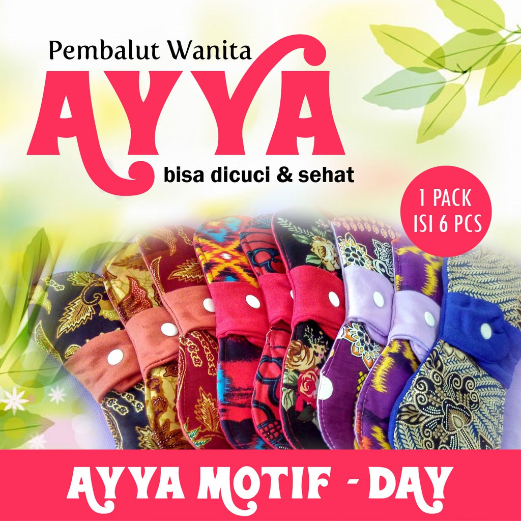 Up To 27 Discount From Brand Ayya Pembalut Kain 1 Pax Isi 6 Menspad Day Cuci