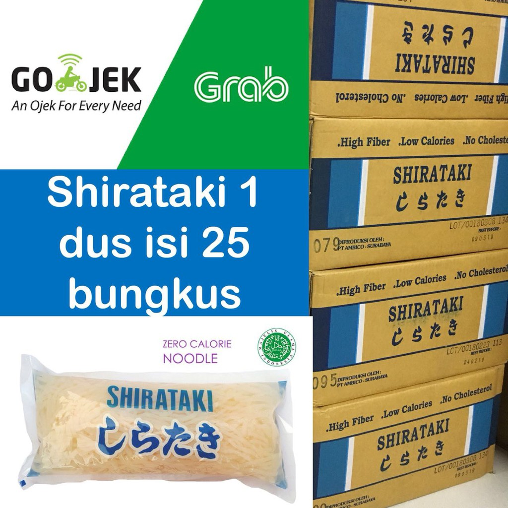 Mie Shirataki Biru Makanan Diet Shopee Indonesia Wet Blue Noodle 200g
