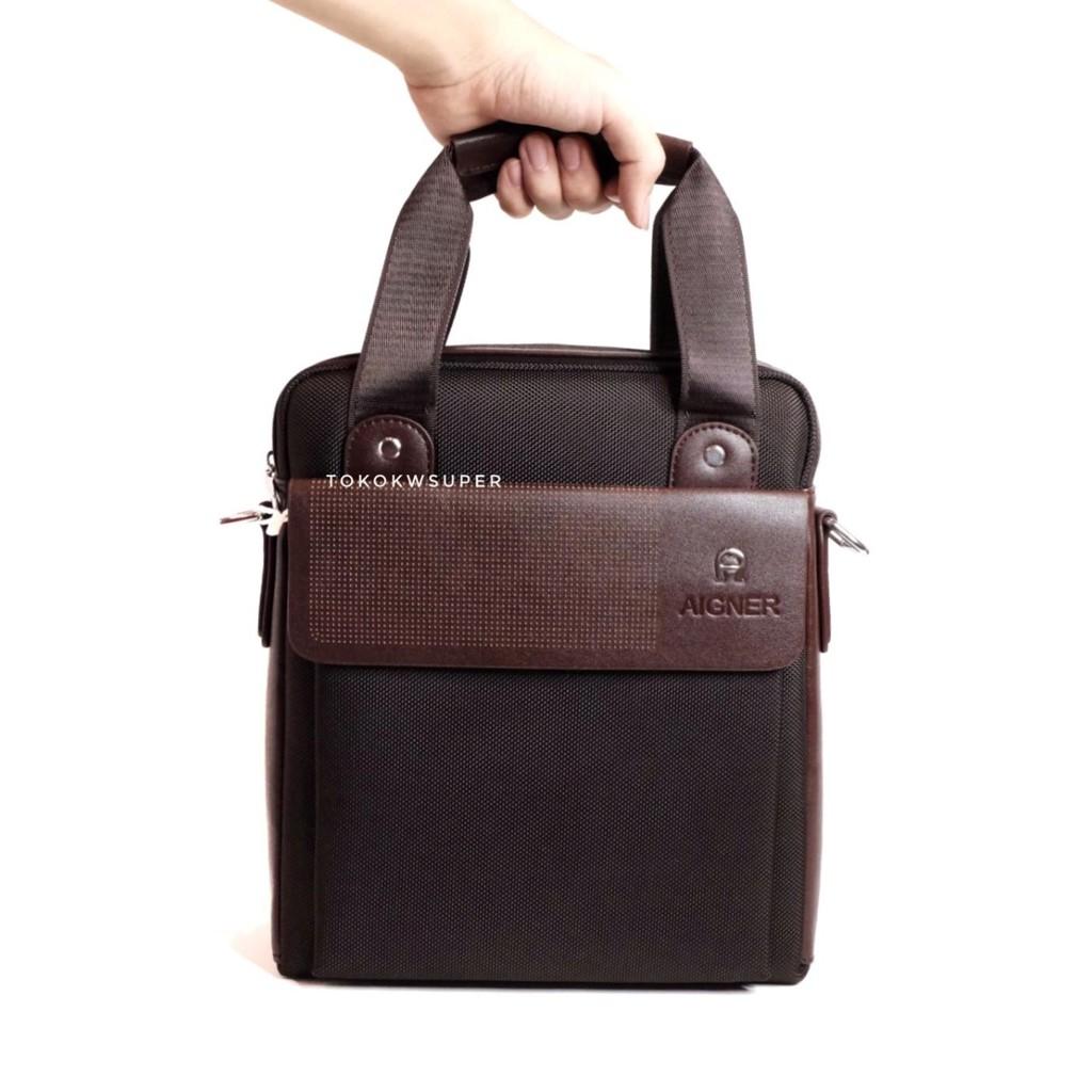 Tas Tangan Pria Selempang Import Terbaru Kanvas Kulit Cowok Hand Impor  Sling bag Handbag Slingbag Ag  58075655fb