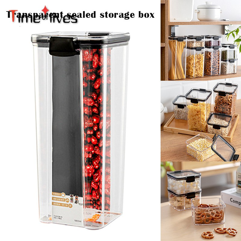 Airtight Food Storage Container Kitchen Pantry Organization Ideal For Flour Sugar Cereal More Bpa Free Plastic Caniste Shopee Indonesia