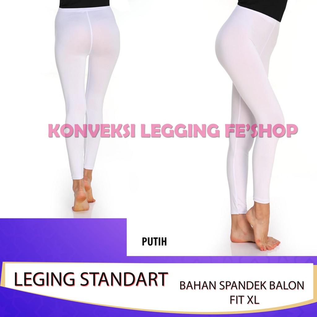 Legging All Size Ukuran Standard Warna Putih Grosir Shopee Indonesia
