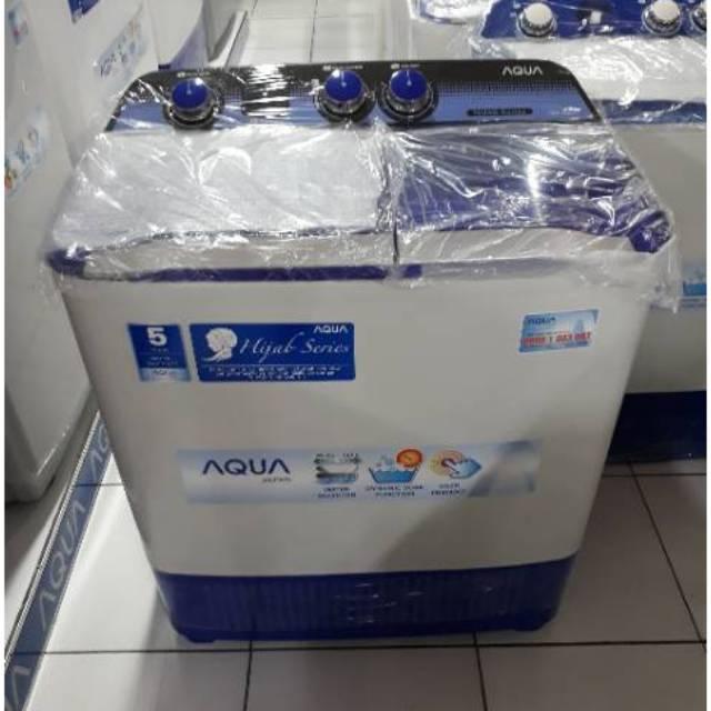 Mesin Cuci 1 Tabung Aqua Sanyo AQW77DH 7.5KG Full Otomatis Hijab Mode | Shopee Indonesia