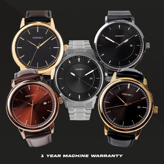 Jam Tangan Pria stainless steel and leather - Guteninc