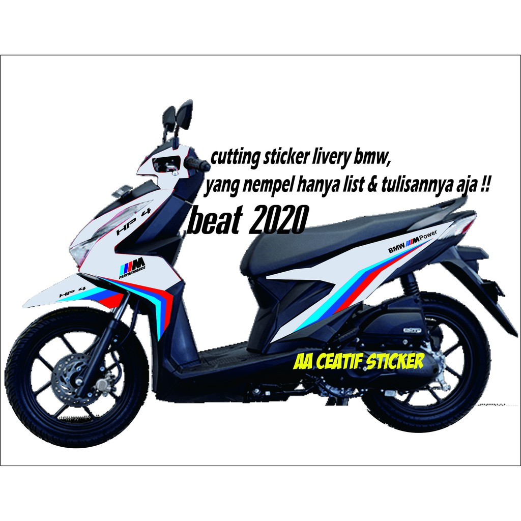 Cuting Sticker Honda Beat 2020 Livery Bmw Shopee Indonesia