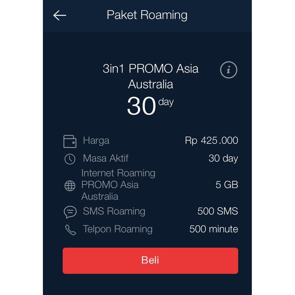 Inject Paket Internet Roaming Telkomsel Asia Dan Australia Berlaku