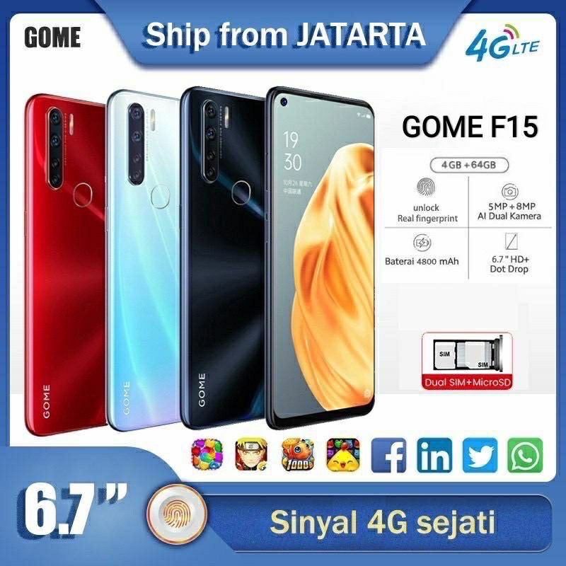 Hp Android GOME F15 Ram 4/64
