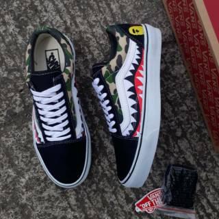 HOT PROMO! Sepatu Vans Oldskool x Bape Sneakers Men Fashion Pria Murah  Terlaris Terpopuler Kekinian!  ee20a44c57