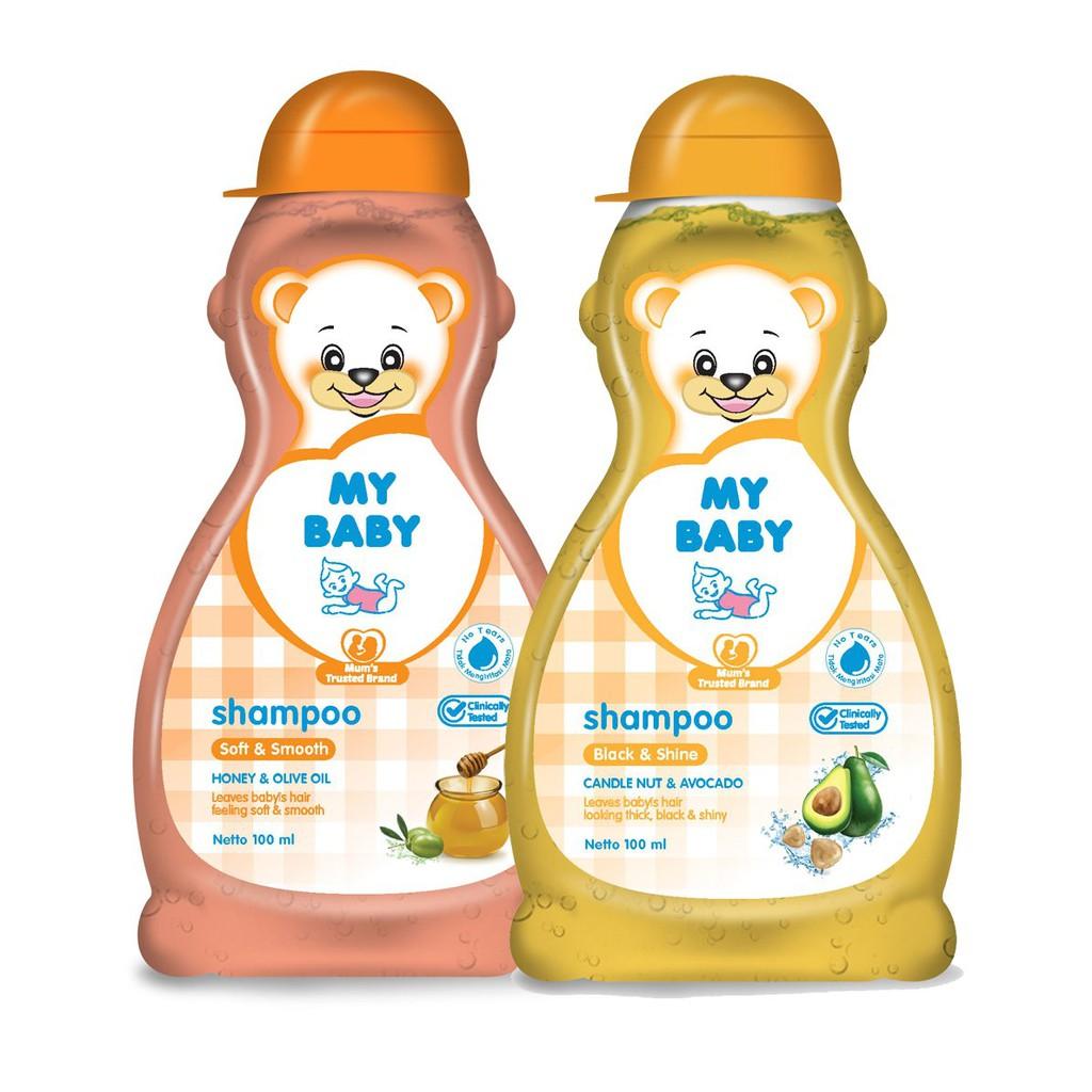 MY BABY Shampoo Bayi Rambut Lembut Soft & Smooth Shampoo Bayi Black & Shine 200 ML