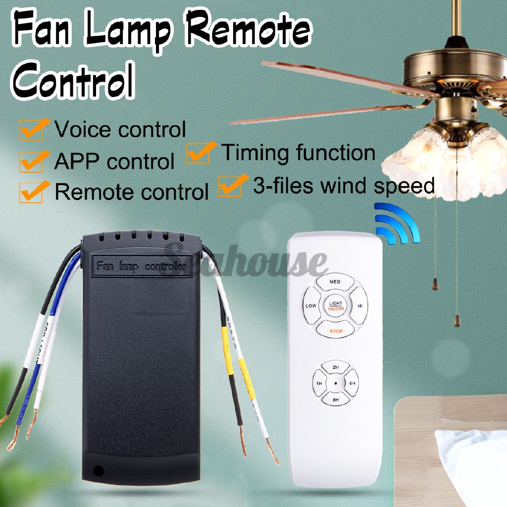 Ceiling Fan Light Controller Intelligent Voice Remote Control Wifi Wireless Remote Control Frequency Conversion Switch Ceiling Lamp Fan Voice Remote Control Three Control Methods Of Mobile Phone Shopee Indonesia