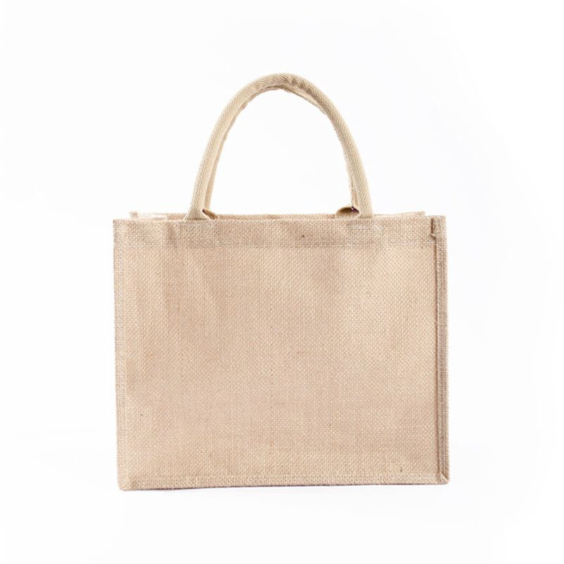 Seng Portable Jute Reusable Tote Shopping Bag Grocery Organizer Storage Pouch Shopee Indonesia