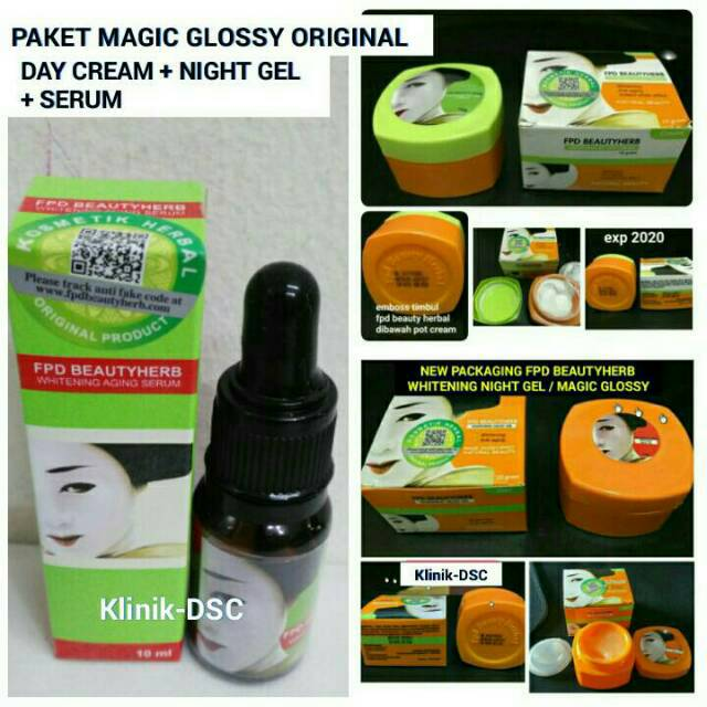 Fpd Beauty Herbal Whitening Day Cream - Magic Glossy Cream Siang | Shopee Indonesia