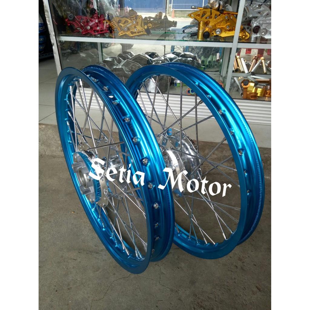 Sepaket Velg Rossi Ring 17 140 160 Vixion Oldvixionvixion Newnva Wm Lebar 1set 2pcs Newnvanvl Tromol Jari Shopee Indonesia