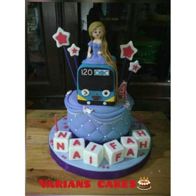 Kue Ulang Tahun Tema Tayo Rapunzel Fondantpondan