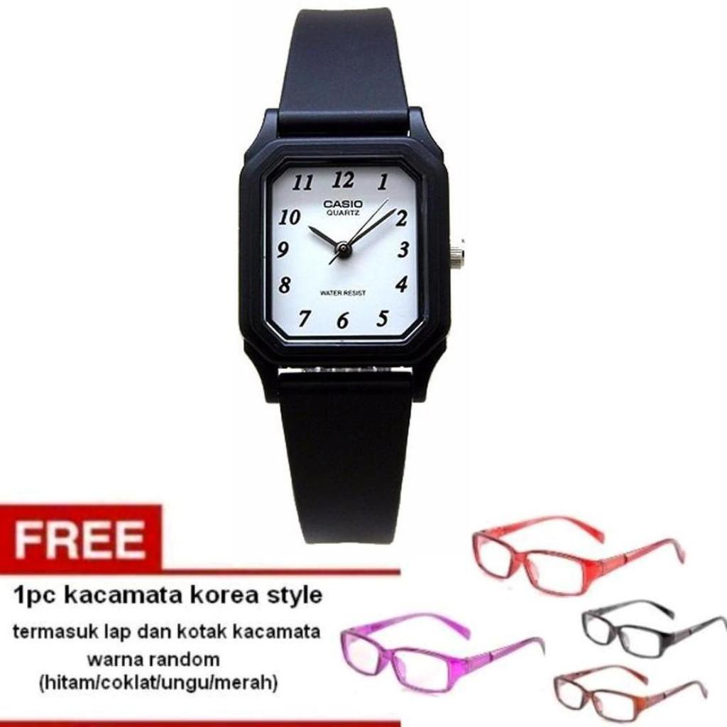 Casio Analog Watch Jam Tangan Wanita - Hitam - tali karet - petite size LQ- 238bcd64ab