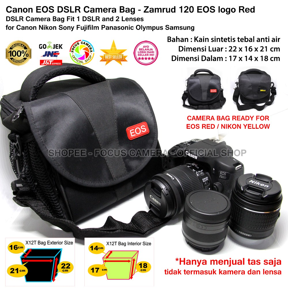WINER DL6 - IMPORT CAMERA BAG for DSLR and Lens Canon Nikon Sony Fujifilm Panasonic | Shopee Indonesia