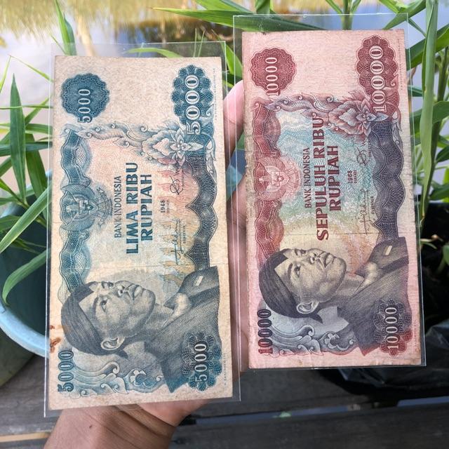 Uang Kuno 10000 Sudirman dan 5000 Sudirman