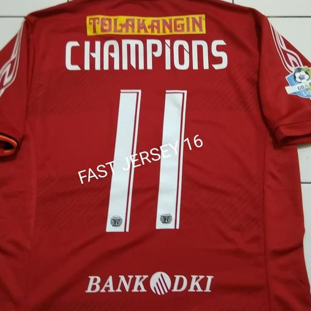 ae6d87830 TERBARU Jersey Persija Home Liga 1 2018 2019 GO Indonesia + Nameset Nama  Nomor 🎵