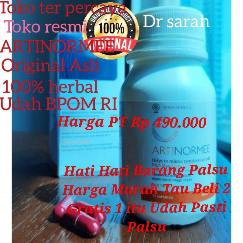 ARTINORMEE 100% Asli Original Obat Hipertensi Struk Jantung Kolestrol Sudah Lulus Uji  BPOM RI