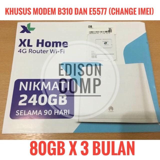 Perdana Mifi 4G Router Wifi XL Go Huawei E5577 / B310 Kuota 240Gb 90Hr