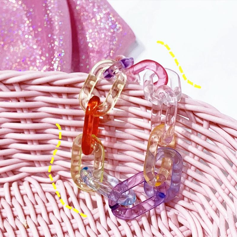 Acrylic Bracelet Colorful Gelang Wanita Jelly Qq Gelang Transparent Gelang Shopee Indonesia