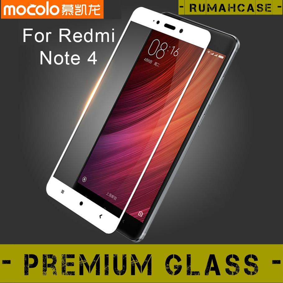 Xiaomi Redmi Note 4 / 4x Mediatek Snapdragon Full Cover 2.5D Tempered Glass Screen Guard Mocolo | Shopee Indonesia
