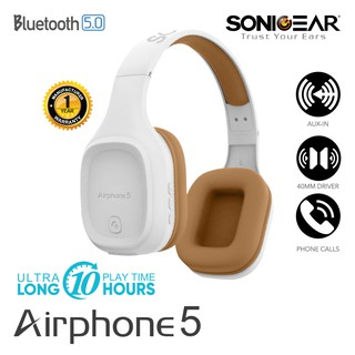Sonicgear Airphone 5 Bluetooth Headphone Built In Microphone for Calling
