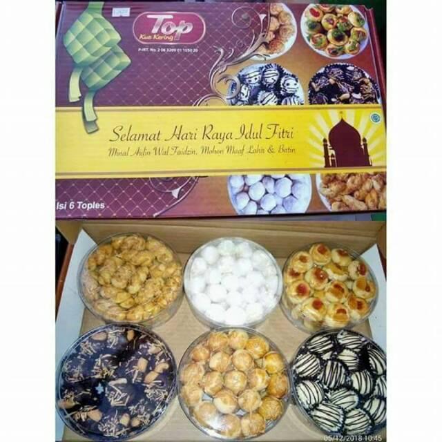 Paket Isi 6 Toples Kue Kering Kue Lebaran Merk Top Shopee Indonesia