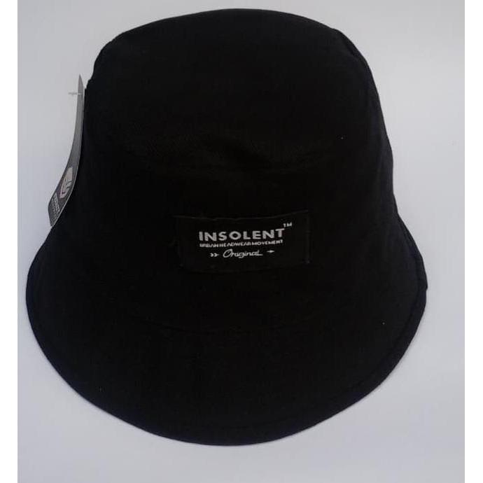 ( Ready Stok ) topi bucket hat hitam polos