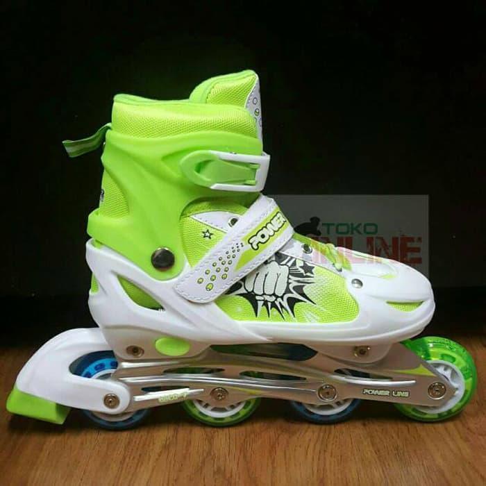Sepatu Roda Anak Inline Skate Power Line 5500 Merah Promo  5fa1942f4b