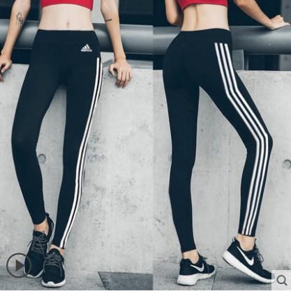 Celana Panjang Legging Wanita Model Adidas 3 Garis Ketat Elastis Warna Hitam Putih Shopee Indonesia